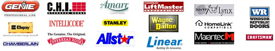 Providing Service On These Garage Door Brands And More.